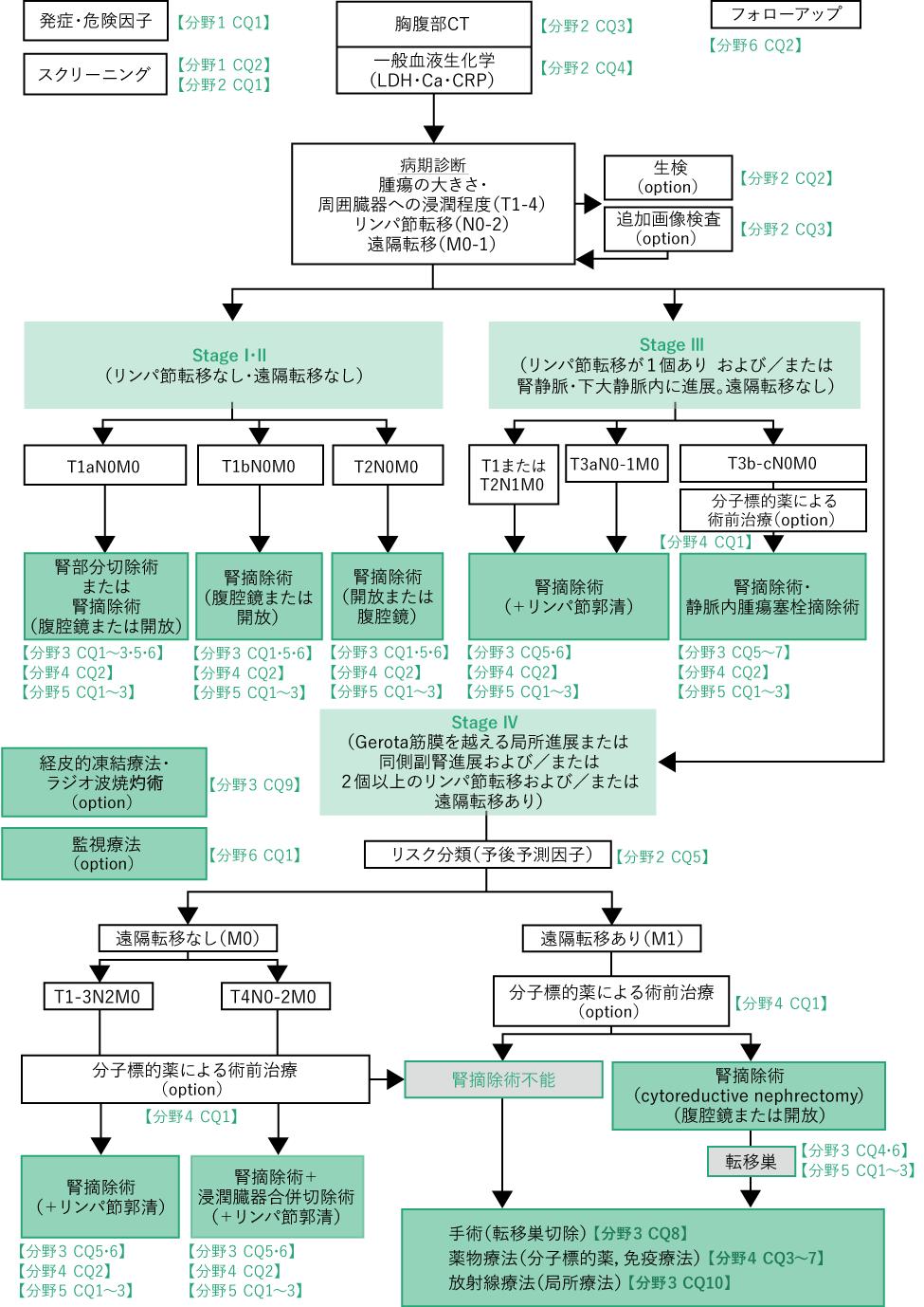 腎癌診療アルゴリズム